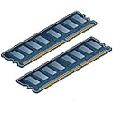 1GB, PC2-5300 DDR2-667MHz, ECC unbuffered SDRAM