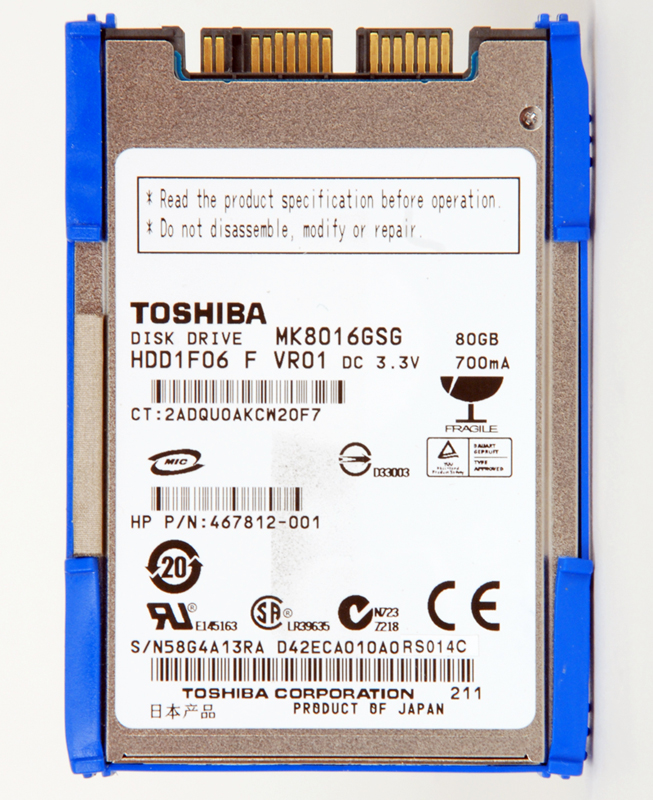 80GB solid-state hard drive (primary) - 4.57cm