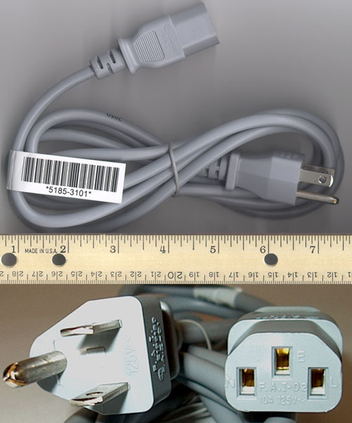 HP PAVILION POWER CORD 18AWG