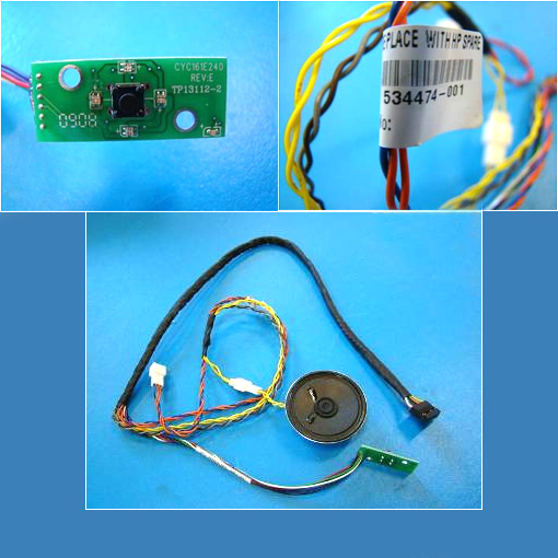 Power on/off switch and LEDs cable assembly