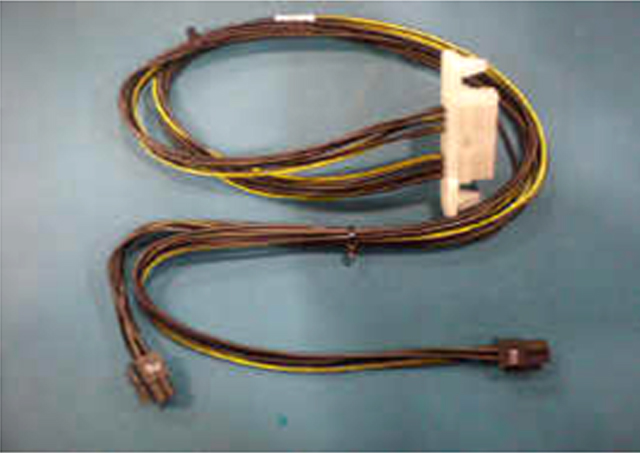 Graphics card power cables