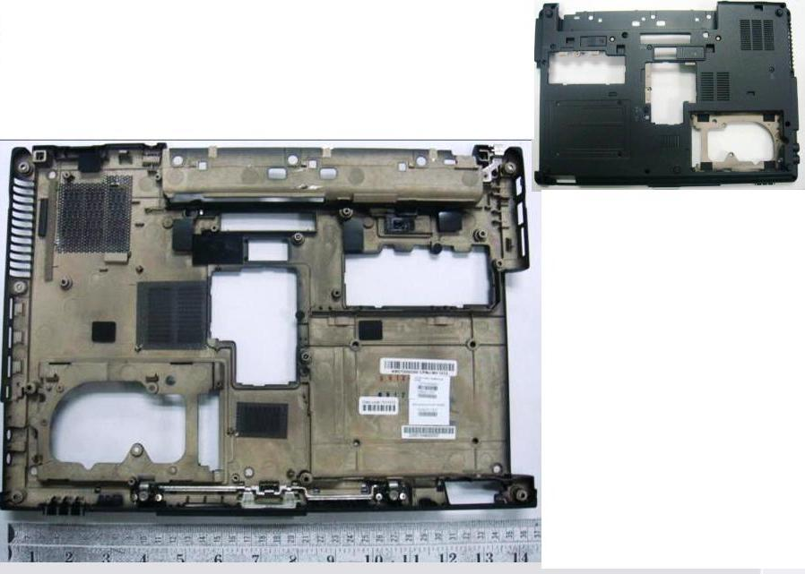 CPU base enclosure (chassis bottom) - Includes
