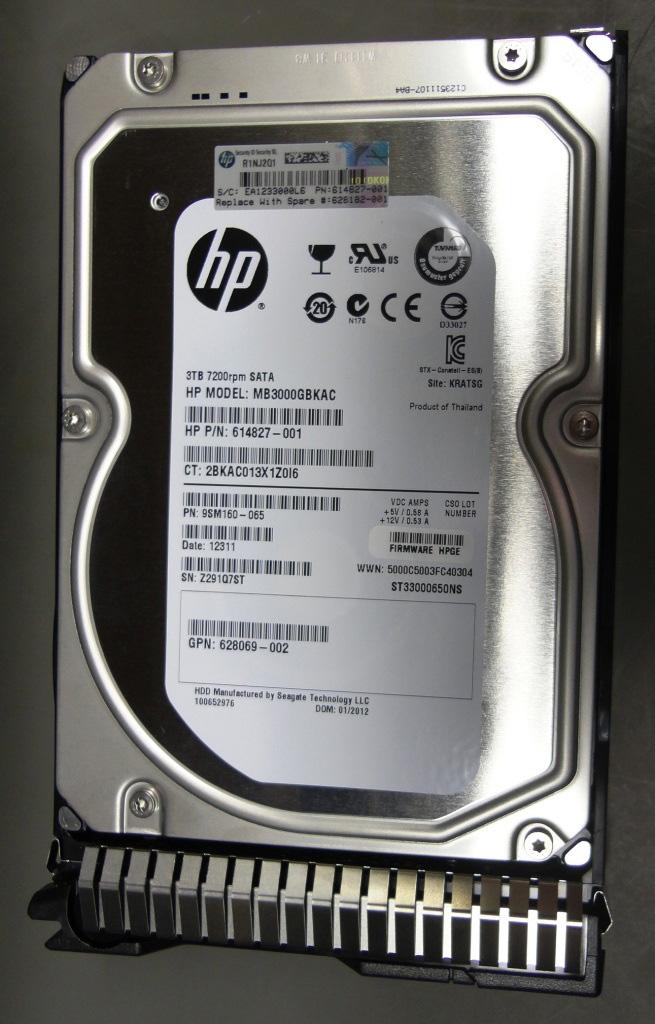 SPS-DRV HD 3TB 3.5 7.2K 6G MDL SC SATA