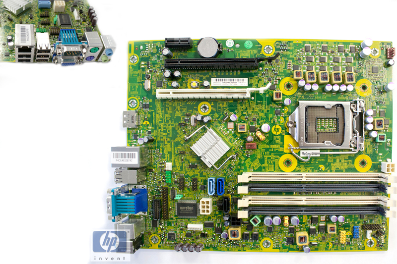 System board (motherboard) assembly - Includes