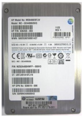 SPS-DRV SSD 400GB 2.5 3G SATA NHP MLC