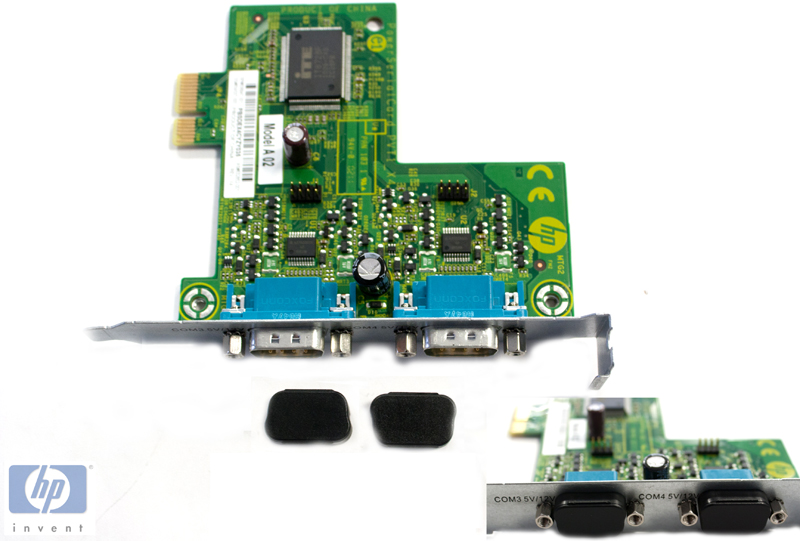 Powered 2-port serial communication card\nPowered
