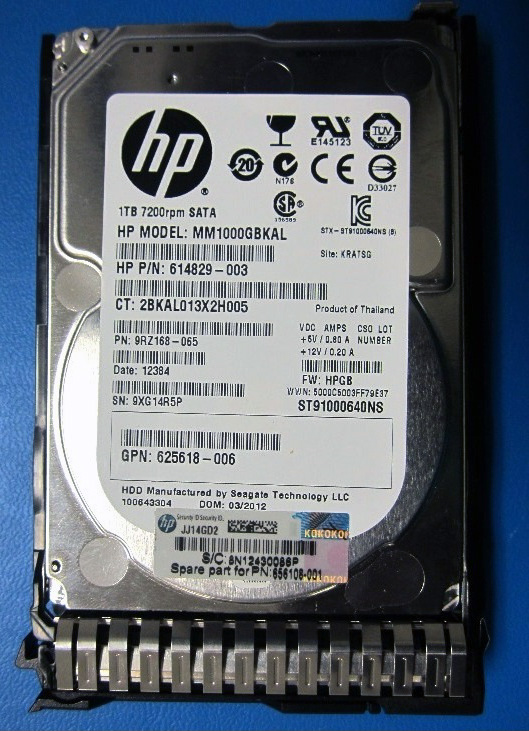 SPS-DRV HD 1TB 6G SATA 7.2K 2.5 MDL SC