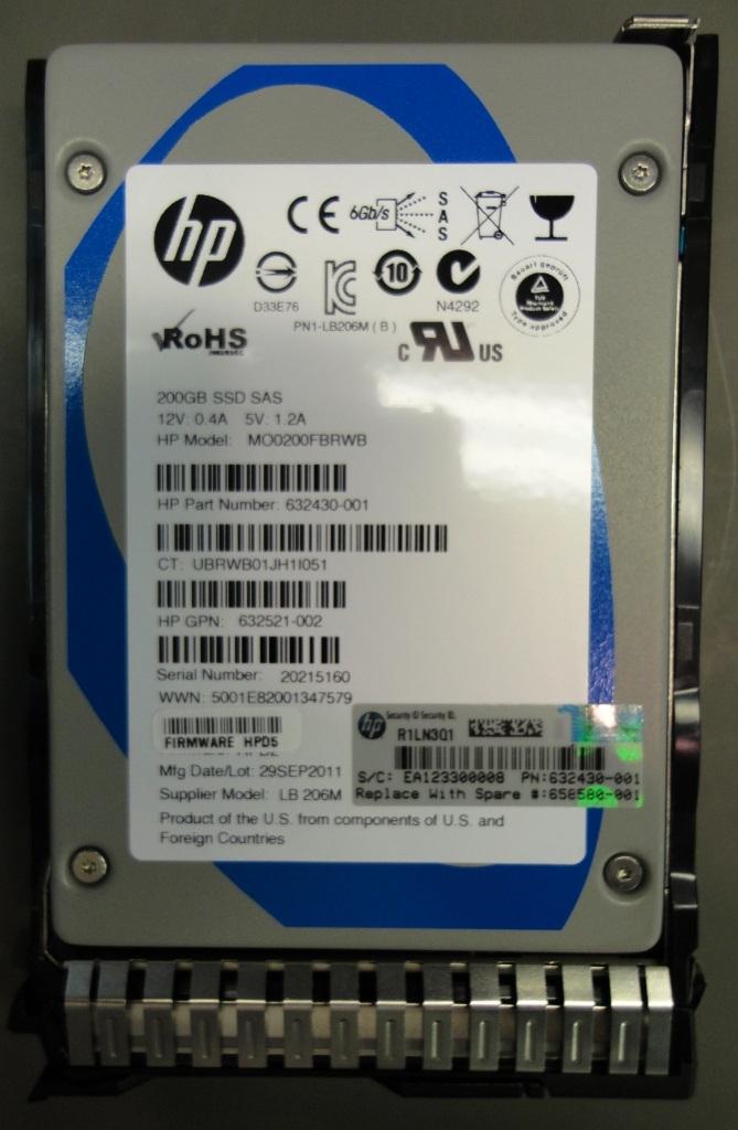 SPS-DRV SSD 200GB SAS 2.5in MLC SC