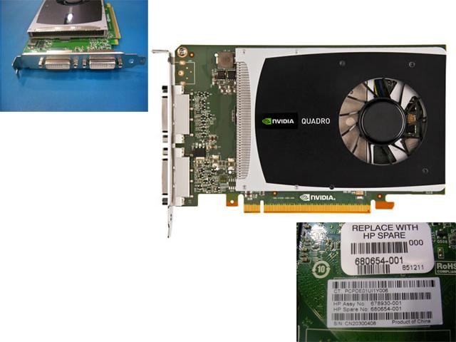 NVIDIA Quadro 2000D PCIe 2.1 x16, 1GB