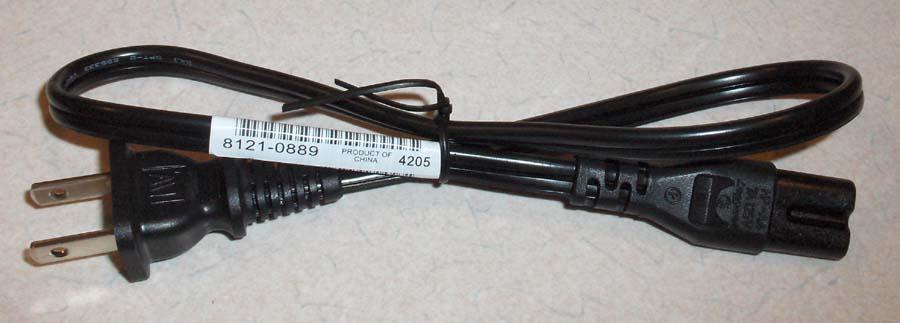 Part description:\nPower cord (Black) - 2-wire, 18