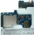 Audio board with ExpressCard reader