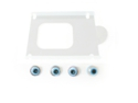 Hard drive isolation grommets (Light Blue color)