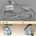 Power cord (Flint Gray) - 18 AWG,
